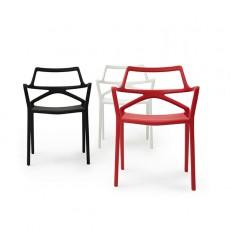 Chaises Delta Noir, Blanc et Rouge Vondom JardinChic