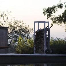 Chariot à bois/ Pare-vue WoodStock Ambiance Terrasse Extremis JardinChic