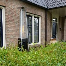 Chauffage d'Extérieur Hexagonal Acier Thermolaqué Noir Outtrade Jardinchic