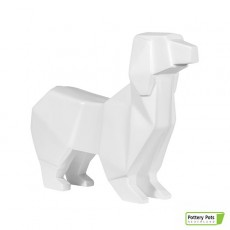 Chien Origami Dog Paper Format L Matt White Pottery Pots Jardinchic