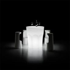 Table Lumineuse Cubalibre avec Tabourets Hauts Fura (vendus séparément) Plust Jardinchic