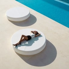 Daybed Vela Rond Dossier Inclinable Blanc Vondom Jardinchic