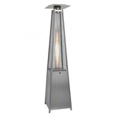 Chauffage d'Extérieur Flame Tower Acier Inox Allumé Outtrade Jardinchic
