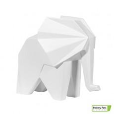Éléphant Origami Elephant Paper Format L Matt White Pottery Pots Jardinchic