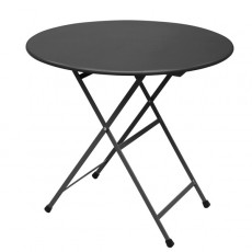 Table Ronde Pliable Arc En Ciel Noir Emu JardinChic
