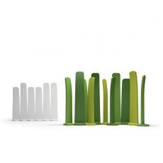 Paravent Gradient 160 et 180, Blanc, Vert Acide, Vert Clair et Vert Foncé Plust Jardinchic