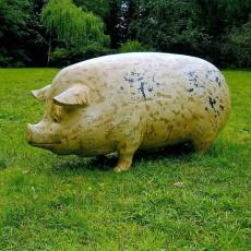 Statue Cochon Tâcheté Profil Tex Artes JardinChic