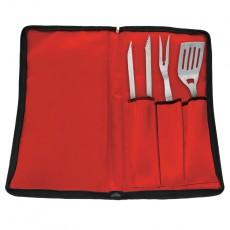 Set Ustensiles Inox pour Barbecue 3 pièces  Grilltech JardinChic