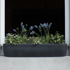 Jardinière pour Rebord de Fenêtre Windowgreen Gris Anthracite Rephorm Jardinchic