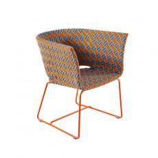 Fauteuil Lounge Kente Structure Orange - Tressage Multicolore Orange Varaschin Jardinchic