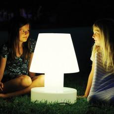 Lampe Portable avec Batterie Rechargeable H28cm Blanche