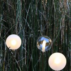 Lampes à Planter Soffione P3 Verre Soufflé Opal et Verre Soufflé Transparent Browntech Inverlight Jardinchic