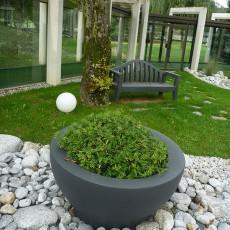 Pot Ming Extra Large Gris Anthracite Serralunga JardinChic