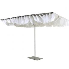 Parasol Breezer Blanc et Ardoise avec Socle pour Parasol Breezer Gris Anthracite (vendu séparément) Sywawa Jardinchic