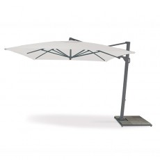 Parasol Easy Shadow Anthracite Toile Teint Masse Ecru Vlaemynck Jardinchic