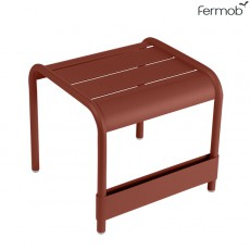 Petite Table Basse / Repose-Pieds Luxembourg Ocre Rouge Fermob Jardinchic