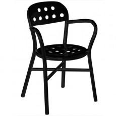 Lot de 2 Chaises empilables Pipe Chair avec accoudoirs Noir Magis JardinChic