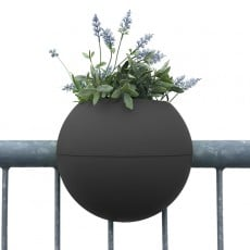 Pot de Balcon Ballcony Bloomball Gris Anthracite Rephorm Jardinchic