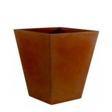 Pot Cône Carré Haut 40x40x52cm Bronze