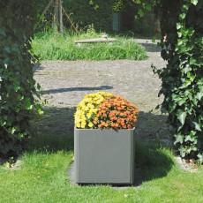 Jardinière Delta Carrée Gris clair Eternit JardinChic