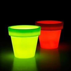 Pot Ikon Lumineux LED RGB Rouge Vert Euro3Plast JardinChic