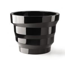 Pot  Rebelot 45 Laqué Noir Plust Jardinchic
