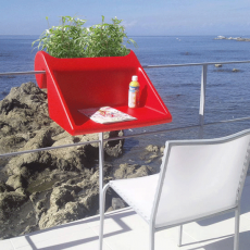 Table d'appoint à suspendre BalKonzept Rouge Rephorm Jardinchic