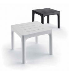 Table Simple Blanc et Noir Perle Plust Jardinchic