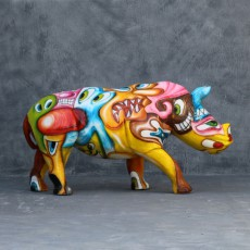 Statue Rhinocéros Pop Art TexArtes Jardinchic