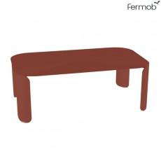 Table Basse Rectangulaire Bebop H29cm Ocre Rouge Fermob Jardinchic