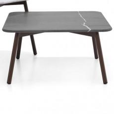 Table Basse Carrée Piper Plateau Pierre