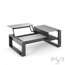 Table Modulable Kama Ceramique argent detouré Ego Paris JardinChic