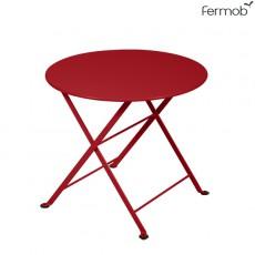 Table Basse Ronde Tom Pouce Coquelicot Fermob Jardinchic