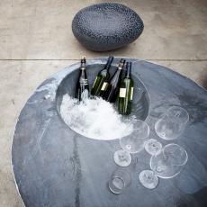Table Basse Zinc Cool avec Galet Batur Domani JardinChic