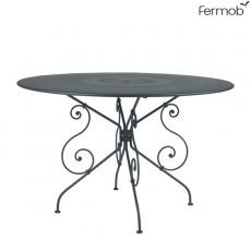 Table de repas 1900 Ø117cm Gris Orage Fermob Jardinchic