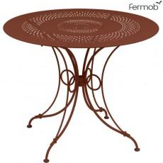 Table de repas 1900 Ø96cm Ocre Rouge Fermob Jardinchic