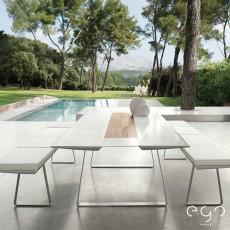 Table de Repas 240 Extrados Corian Chemin De Table Teck Ego Paris Jardinchic