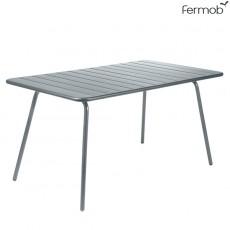 Table Luxembourg 143x80cm Gris Orage Fermob Jardinchic