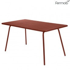 Table Luxembourg 143x80cm Ocre Rouge Fermob Jardinchic