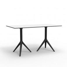 Table Double Avec Plateau HPL Blanc / Pieds Noir Mari-Sol Vondom JardinChic
