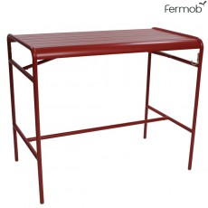 Table Haute Luxembourg 126x73cm Coquelicot Fermob Jardinchic