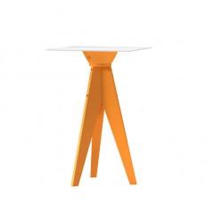 Table Haute Oxford Orange Plateau Carré 70 HPL Blanc Myyour Jardinchic