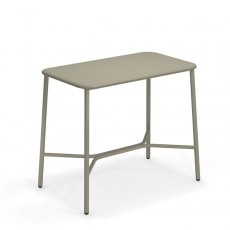 Table Haute Plateau Aluminium 120cm Yard Gris Vert Emu JardinChic