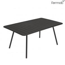 Table Luxembourg 165x100cm Réglisse Fermob Jardinchic