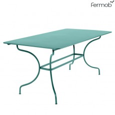 Table Manosque Bleu Lagune Fermob Jardinchic