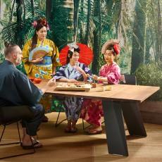 Table Pontsun Structure En Bois Iroko & Pieds En Acier Laqué Terre Extremis JardinChic