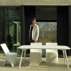 Table Sloo 180x90cm Blanc Vondom Jardinchic