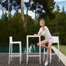 Set De 2 Tabourets Hauts & 1 Table Haute Spritz Vondom JardinChic