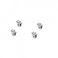4 roulettes pour Base à dalles