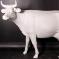 Statue Vache Blanche